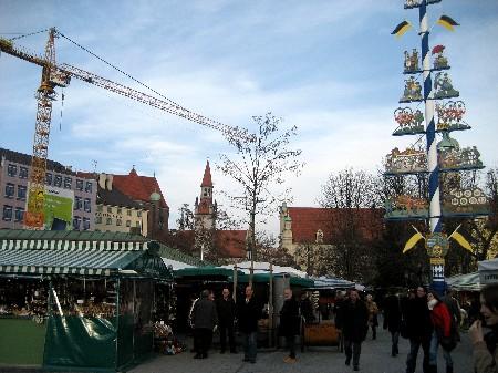 Viktualienmarkt w Monachium