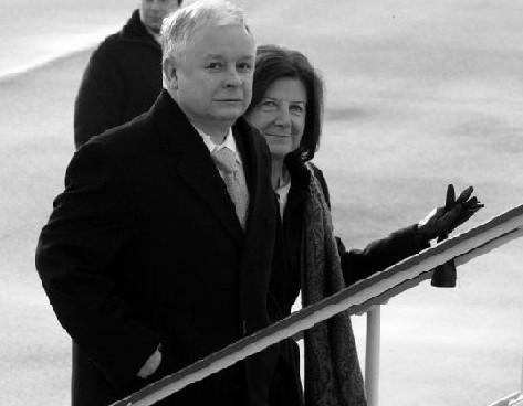 Präsident Kaczy?ski mit seiner Gattin, Quelle: www.prezydent.pl