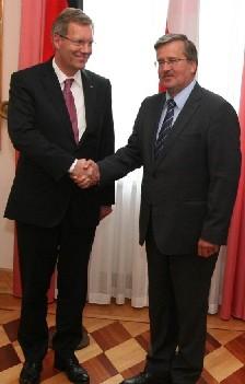 Amtskollegen: Wulff und  Komorowski, Foto: www.prezydent.pl