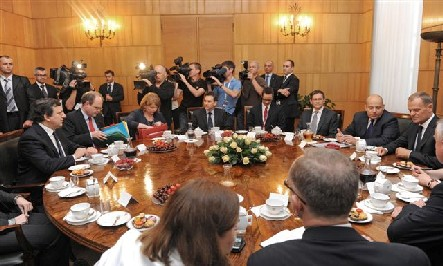 Treffen mit José Manuel Barroso und Herman Van Rompuy